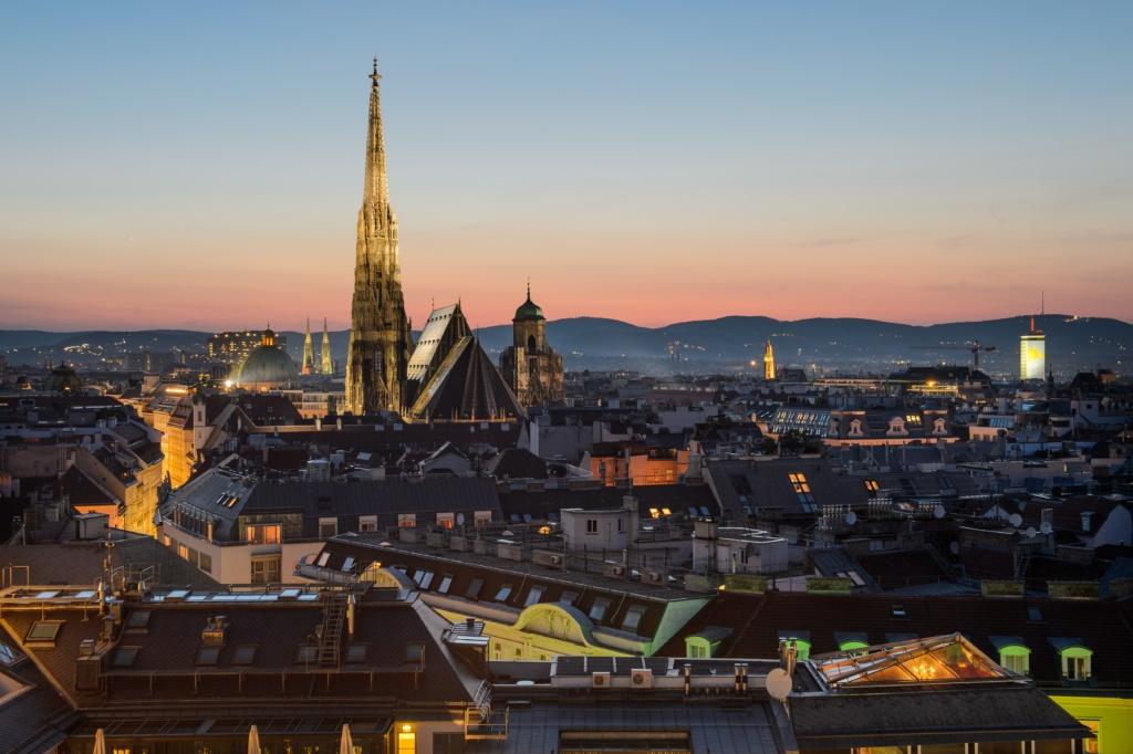 Vienna skyline, Austria