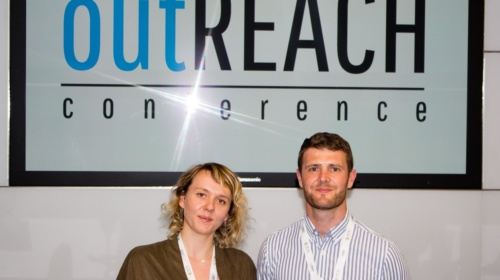 Outreach conference Gareth & Kayleigh