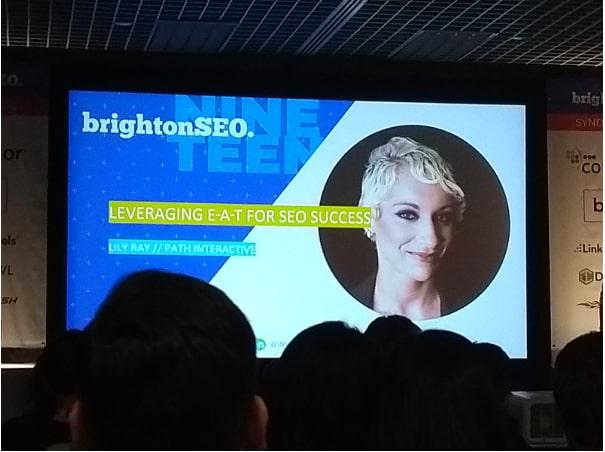 Lily Ray's presentation at Brighton SEO