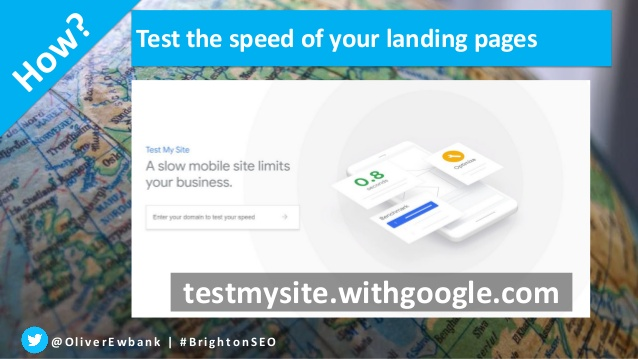 A slide detailing why you should always test a site's mobile speed.