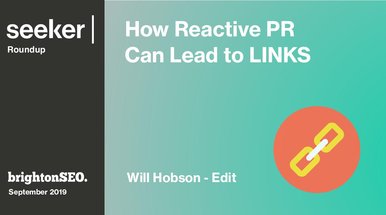 How Reactive PR Can Lead To LINKS!
